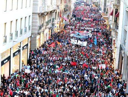 Estambul manifestacion jerusalen istiklal