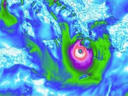Huracan medicane meteorologia mediterraneo