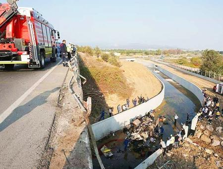 Izmir accidente camion inmigrantes