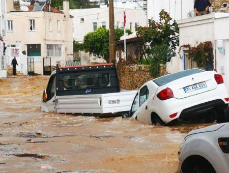 Mugla bodrum inundaciones lluvias