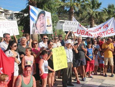 Mugla bodrum protesta detenido cuba
