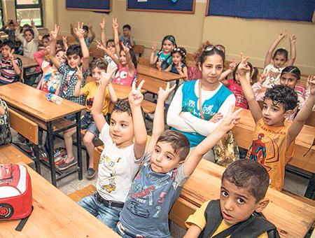 Refugiados ninos sirios escuela