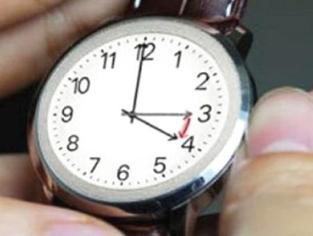 Reloj horario cambio hora