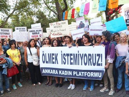 Ankara protesta violencia mujer