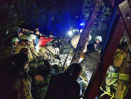 Estambul accidente helicoptero cekmekoy