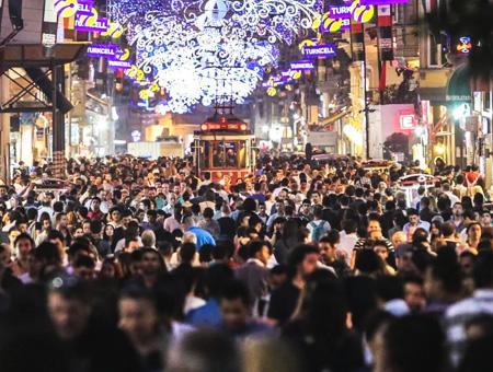 Estambul beyoglu avenida istiklal navidad