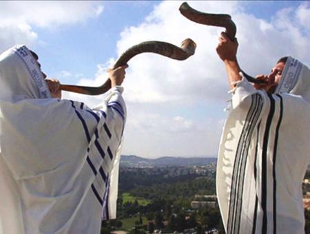Judios shofar rosh hashanah
