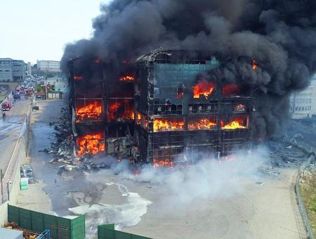 Kocaeli incendio fabrica