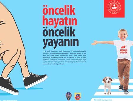 Turquia campana gobierno concienciacion peatones