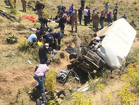 Van accidente furgoneta inmigrantes