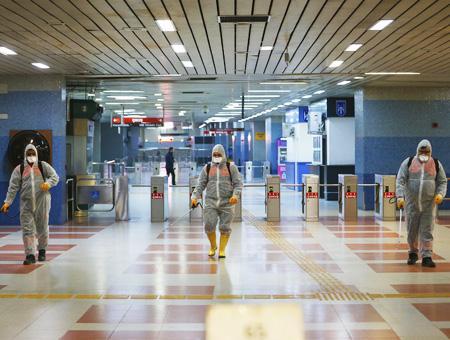 Ankara limpieza metro coronavirus