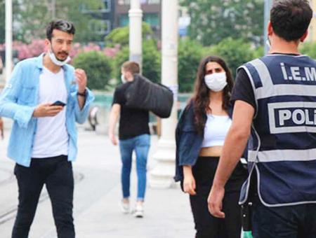 Estambul multa mascarilla calle