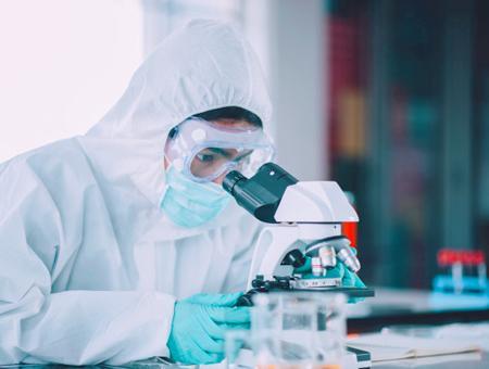 Laboratorio vacuna virus
