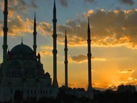 Mezquita puesta sol