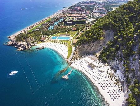 Un complejo hotelero en Kiriş (Antalya), en la costa mediterránea turca