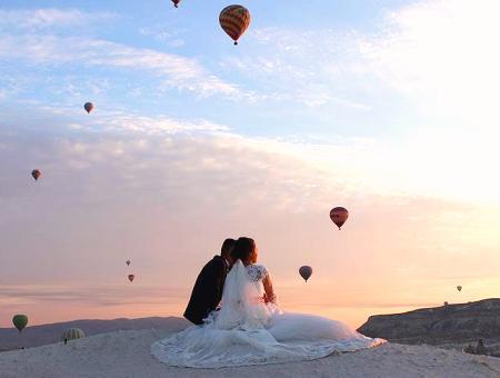 Fotos de boda en la Capadocia: la nueva moda entre los turistas que viajan a Turquía
