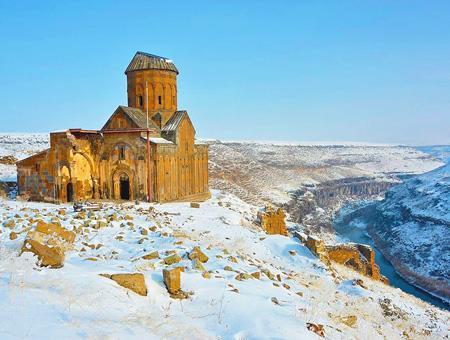 Kars ruinas ani nieve
