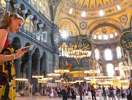 Estambul santa sofia turista