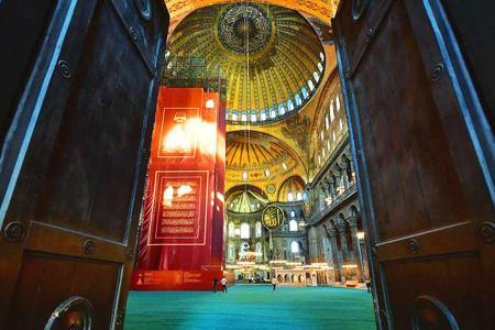 Estambul santa sofia entrada mezquita