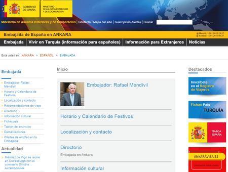 Embajada espana turquia