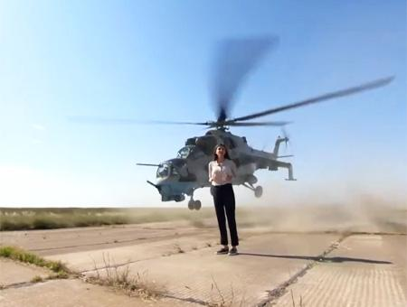 Azerbaiyan reportera riesgo helicopteros