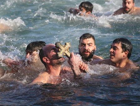 Estambul ritual ortodoxo navidad