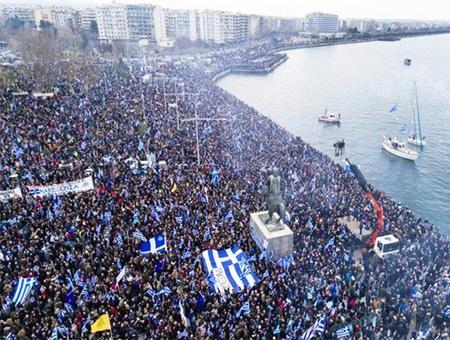 Grecia tesalonica protesta macedonia