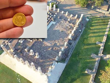 Canakkale tesoro monedas bizancio
