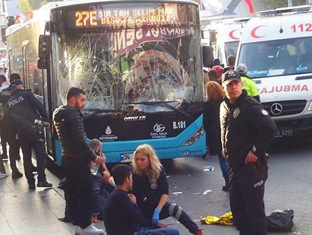 Estambul accidente parada autobus