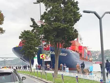 Estambul barco encallado bosforo