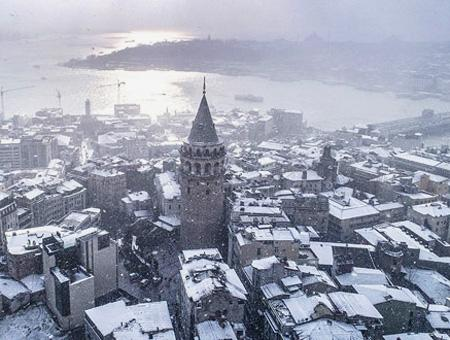 Estambul nieve nevada vistas