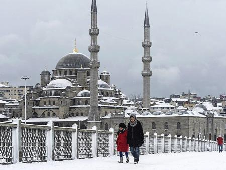 Estambul nieve nevada