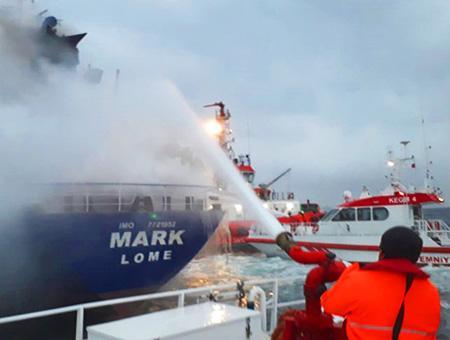 Estambul rescate carguero incendio