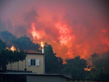 Grecia incendio isla evia