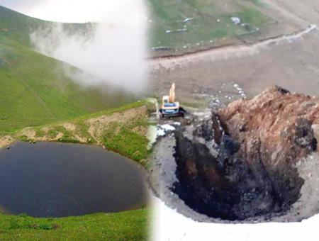 Gumushane lago secado tesoro