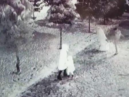 Konya violencia muneco nieve