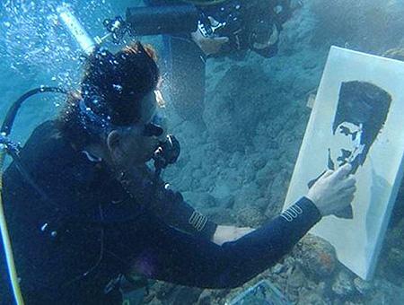 Mugla retrato ataturk submarinista