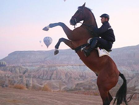 Nevsehir capadocia gendarme caballo