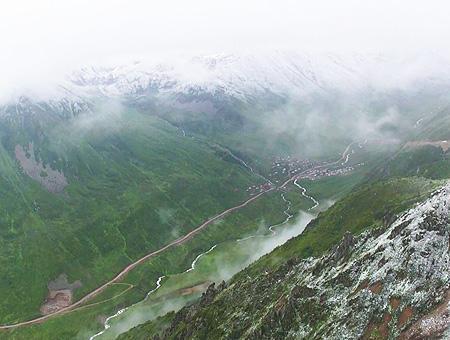 Rize camlihemsin nieve montanas