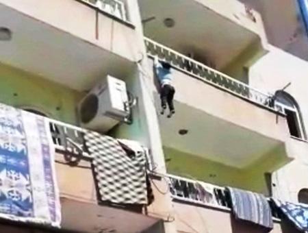 Sanliurfa nino balcon caida