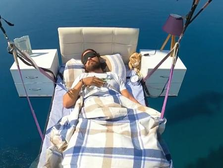 Antalya volando parapente cama