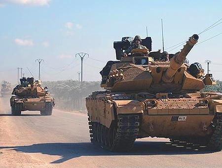 Ejercito turco tanques siria