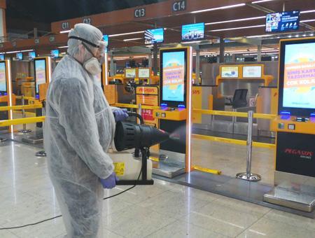 Estambul aeropuerto desinfeccion coronavirus