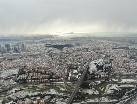 Estambul ciudad nieve nevada