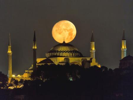 Estambul santa sofia super luna