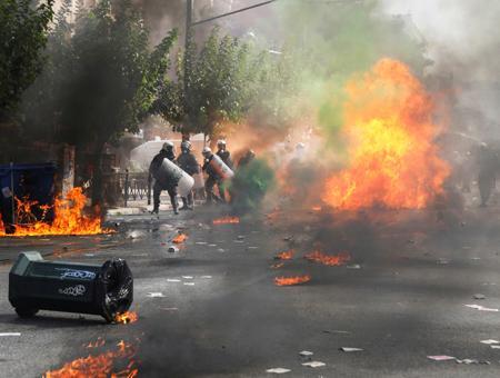 Grecia protestas antifascistas atenas