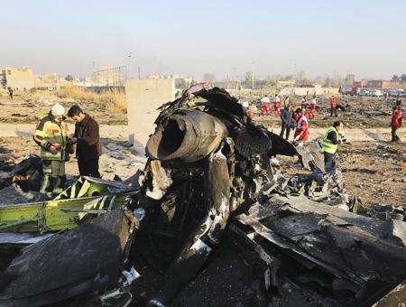 Iran restos accidente avion ucraniano