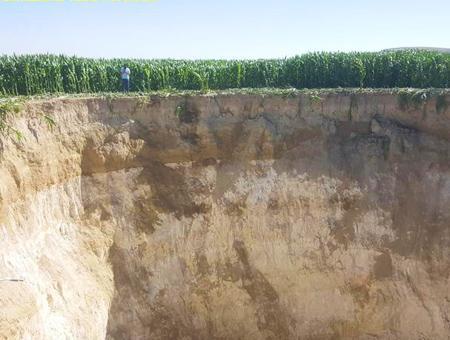 Turquia agujero gigante konya