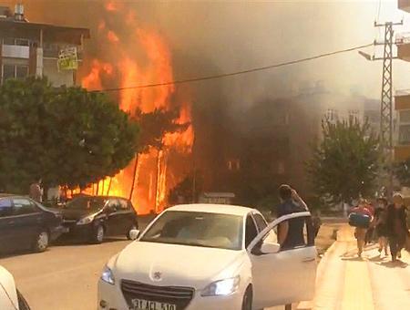 Turquia incendios hatay