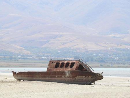 Turquia lago van desaparicion
